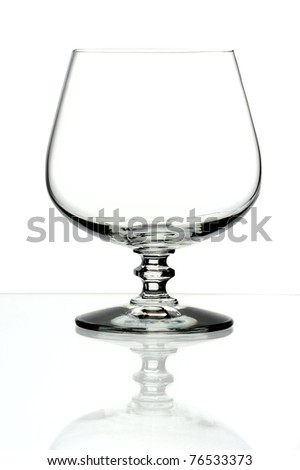 glass goblet, isolated on a white background.