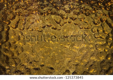 Glass golden texture