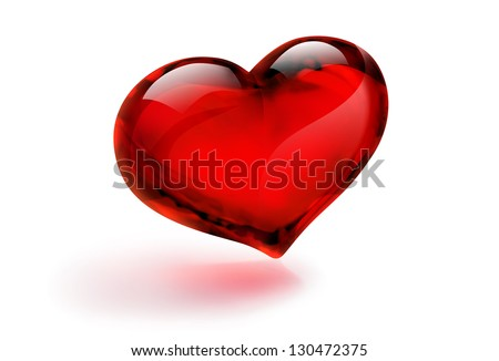 glass heart - stock photo