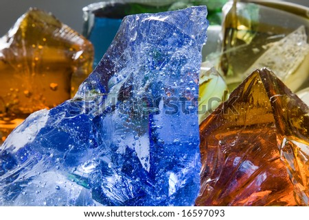 Glass hills. Color and shape background.