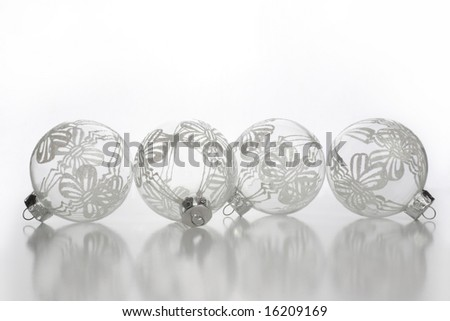 Glass holiday ornaments - stock photo