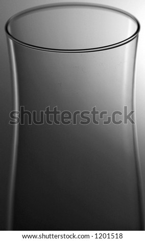 glass in black and white - stock photo