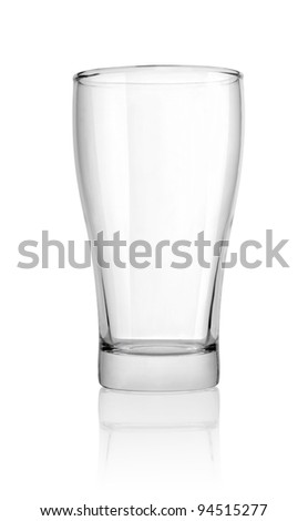 Glass isolated