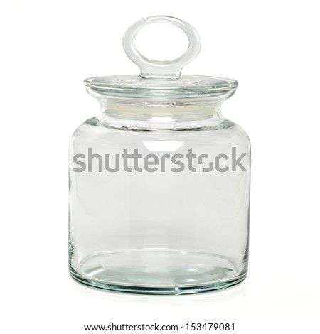 Glass jar with clipping path