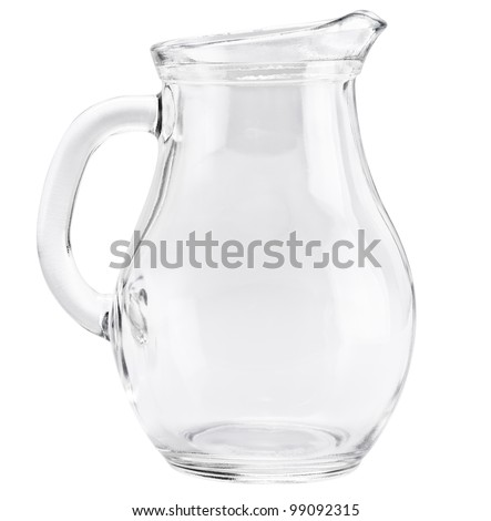 Glass jug isolated on a white background - stock photo