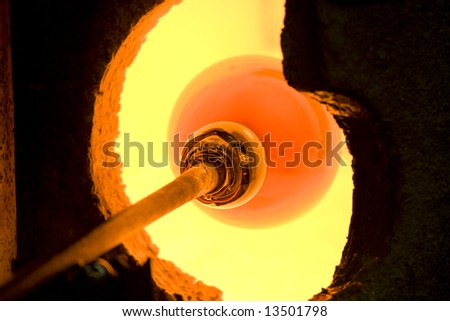 Glass kiln - stock photo