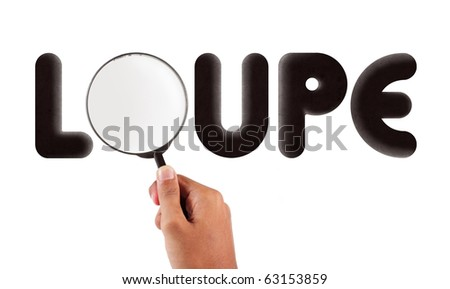 glass loupe typography - stock photo