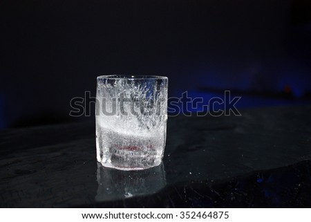 glass made from ice