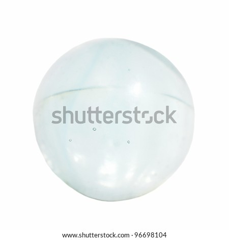 Glass marbles, transparent glass ball isolated on white background - stock photo
