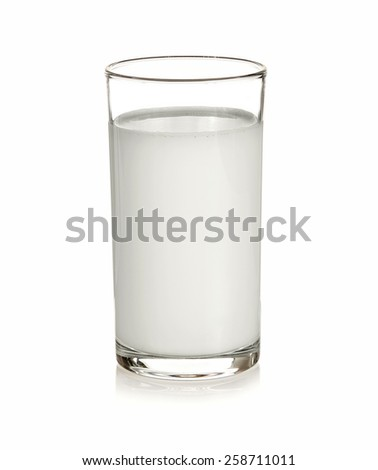 Glass milk isolated with white on background