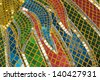 glass mosaic - stock photo