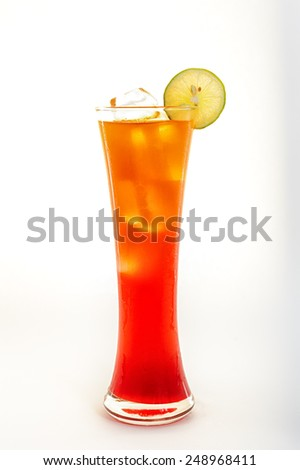 Glass of alcoholic cocktail. - stock photo