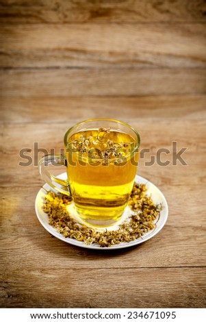 Glass of chamomile