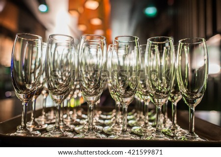 glass of champagne for  wedding ceremony