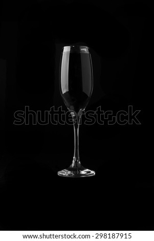 Glass of Champagne in Black And White