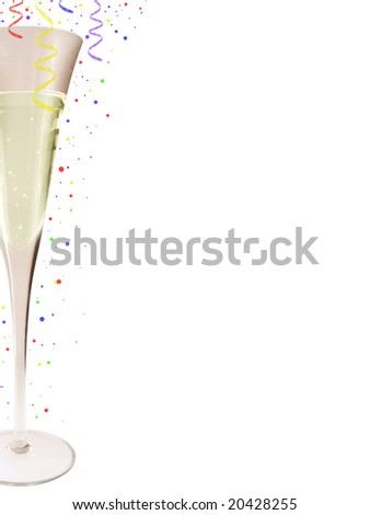Glass of champagne with isolated background - stock photo