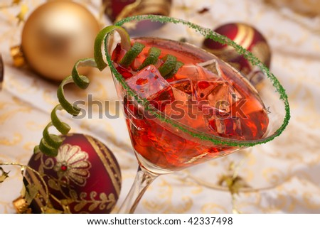 Cosmopolitan drink stock images royalty free images for Christmas in a glass cocktail