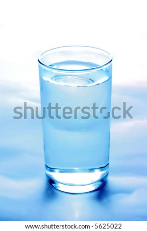 Glass of clean fresh water - stock photo