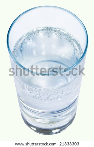 Glass of clear water on a white isolated background - stock photo