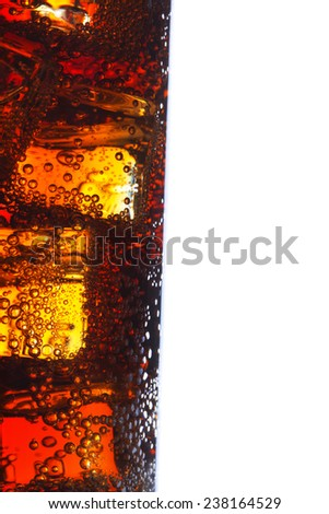glass of cola - stock photo