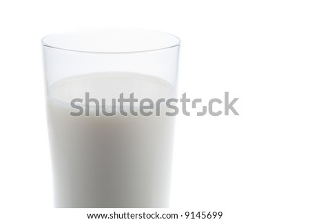 Glass of fresh milk isolated on a white background