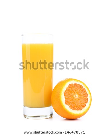 Glass of fresh orange juice.