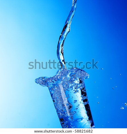 Glass of fresh Water - stock photo