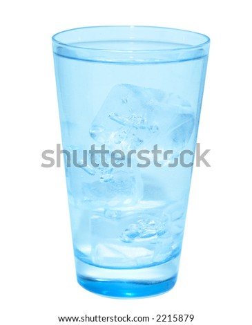 glass of fresh water  (clipping path included) - stock photo
