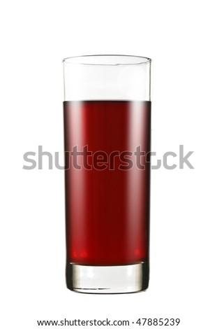 glass of grape juice - stock photo