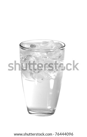 Glass of iced water - stock photo