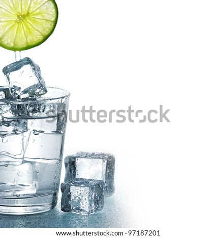 Glass Of Iced Water And Lemon