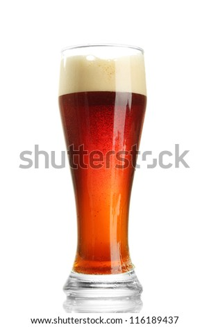 glass of kvass, isolated on white