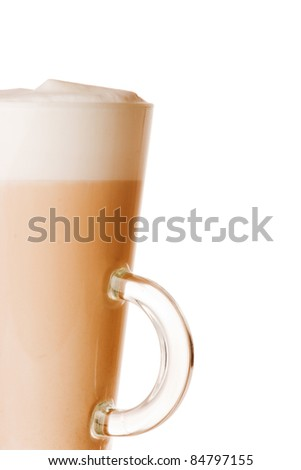 glass of latte - stock photo