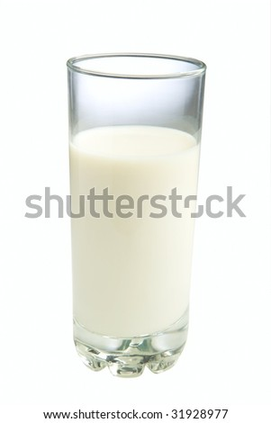 Glass of milk - stock photo