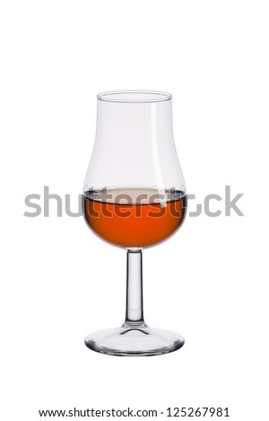 glass of port  isolated on a white background - stock photo