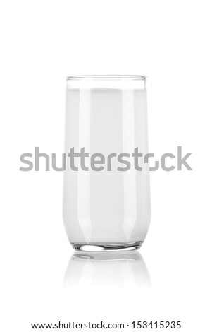 Glass of Pure Milk Isolated on White Background - stock photo