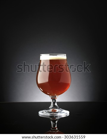 glass of red beer