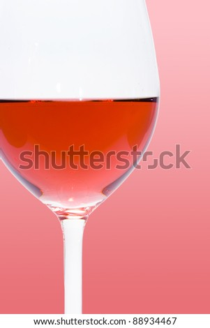 glass of red wine detail