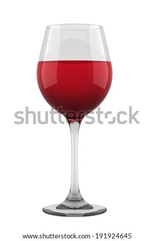 Glass of red wine isolated. - stock photo