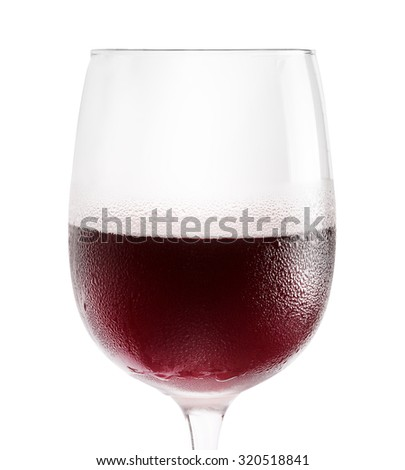 glass of red wine isolated on the white background