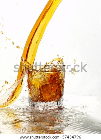 Glass of soft drinks