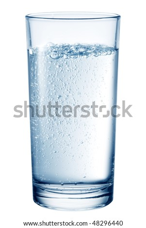 Glass of table-water. - stock photo