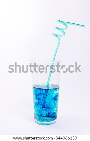 Glass of Water and Straw.