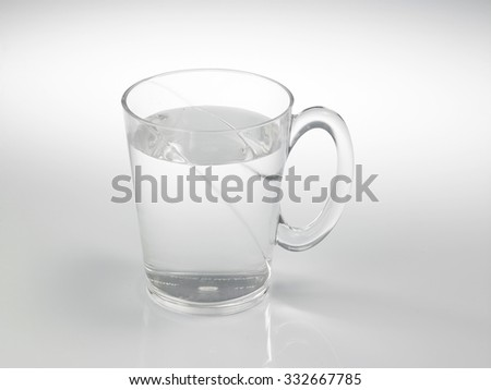 glass of water in a glass mug - stock photo