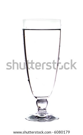 Glass of water. Isolation on white