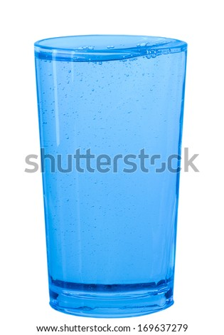 glass of water on white background - stock photo