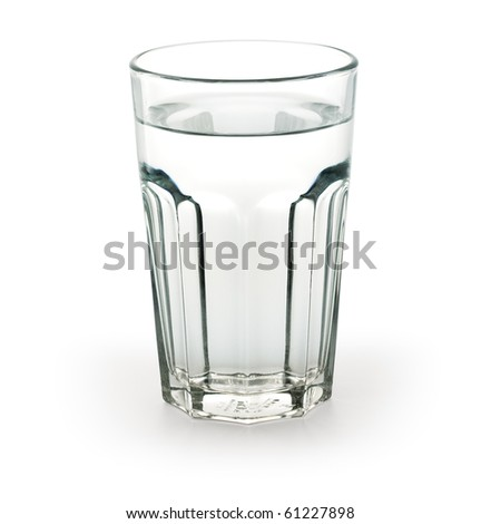 Glass of water Path included - stock photo
