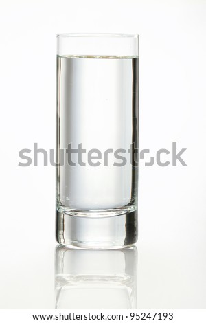 Glass of wather  isolated on white. - stock photo