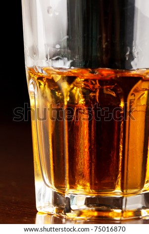 Glass of whiskey - stock photo