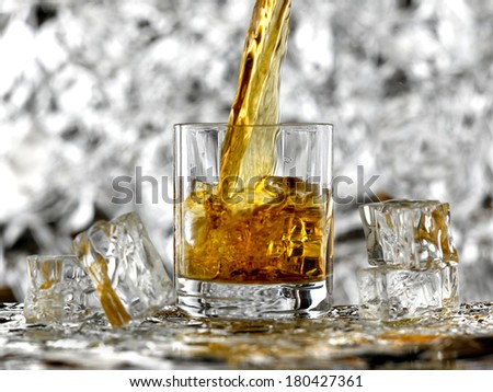 Glass of whisky - stock photo